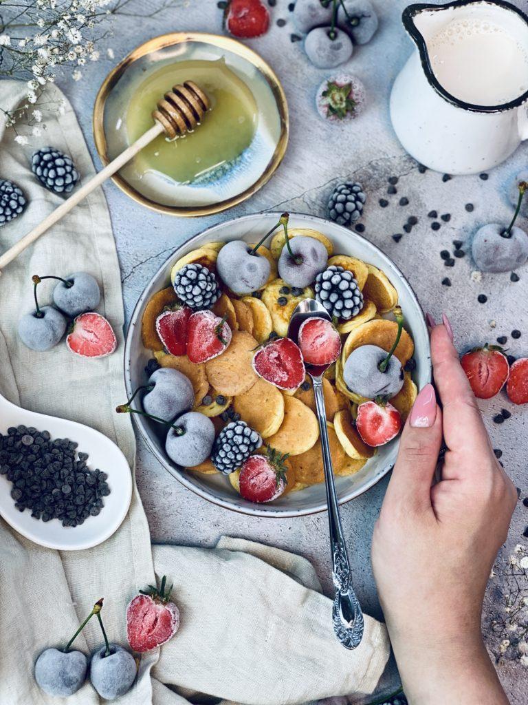 Mini-Protein-Pancake-Bowl Rezept